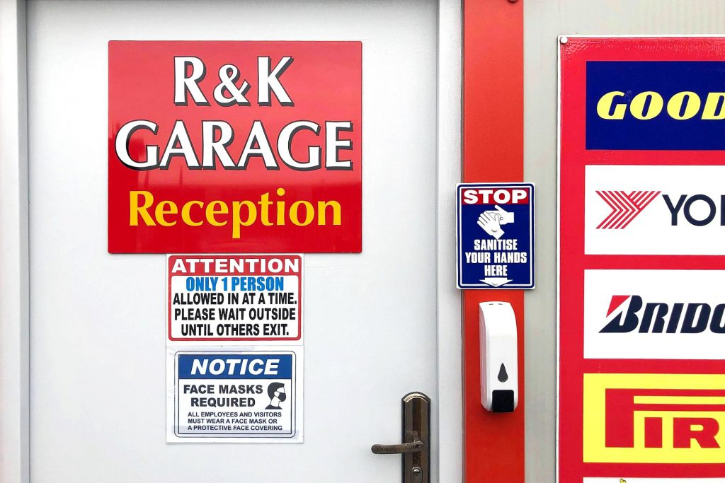R and K Garage safety measures